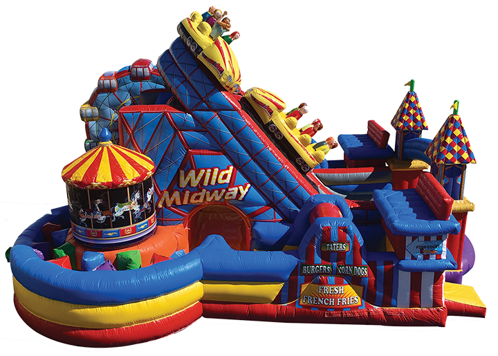 Midway Amusement Park Obstacle Course rentals from Austin Bounce House Rentals in Austin TX
