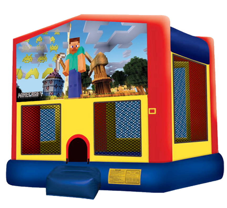 Minecraft Bounce House Rentals in Austin Texas from Austin Bounce House Rentals