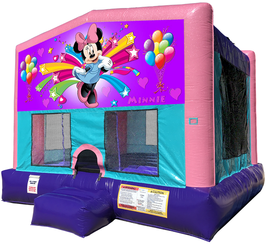 Minnie Mouse Sparkly Pink Bounce House Rentals in Austin Texas from Austin Bounce House Rentals