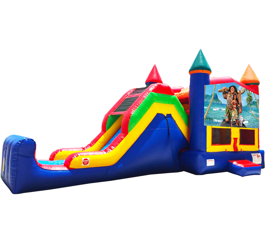 Moana Super Combo 5-in-1 inflatable rental in Austin Texas