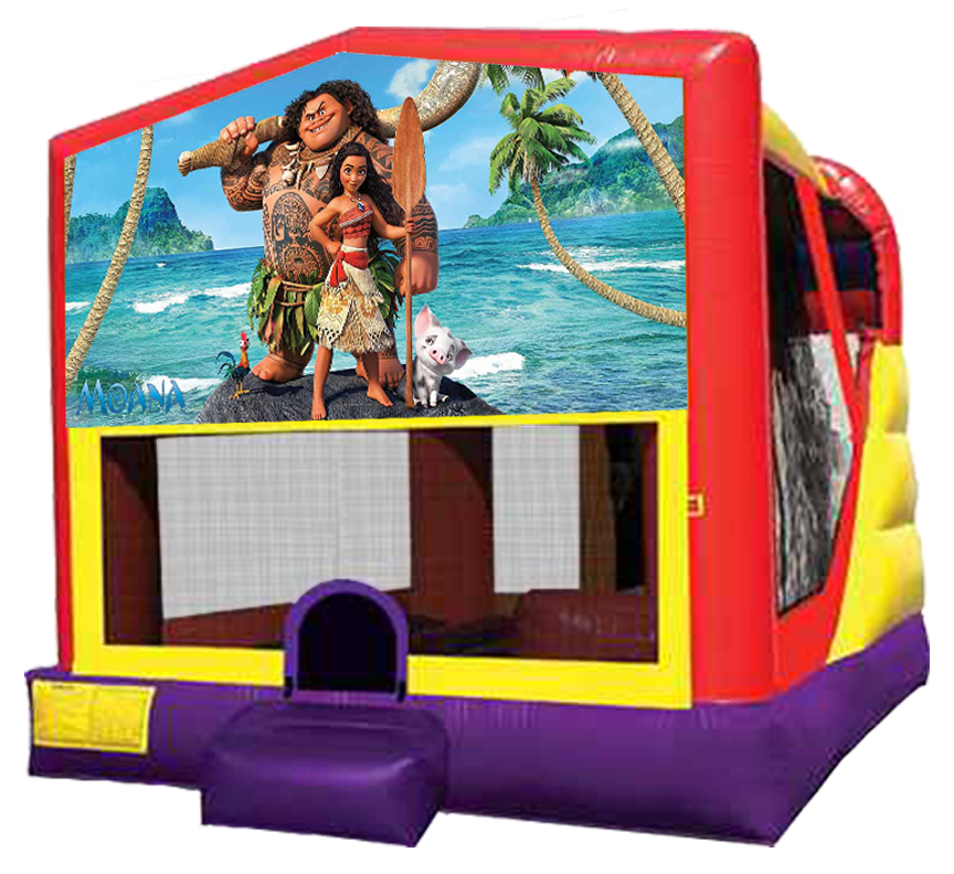 Extra Large Moana 4-in-1 Combo for parties in Austin Texas
