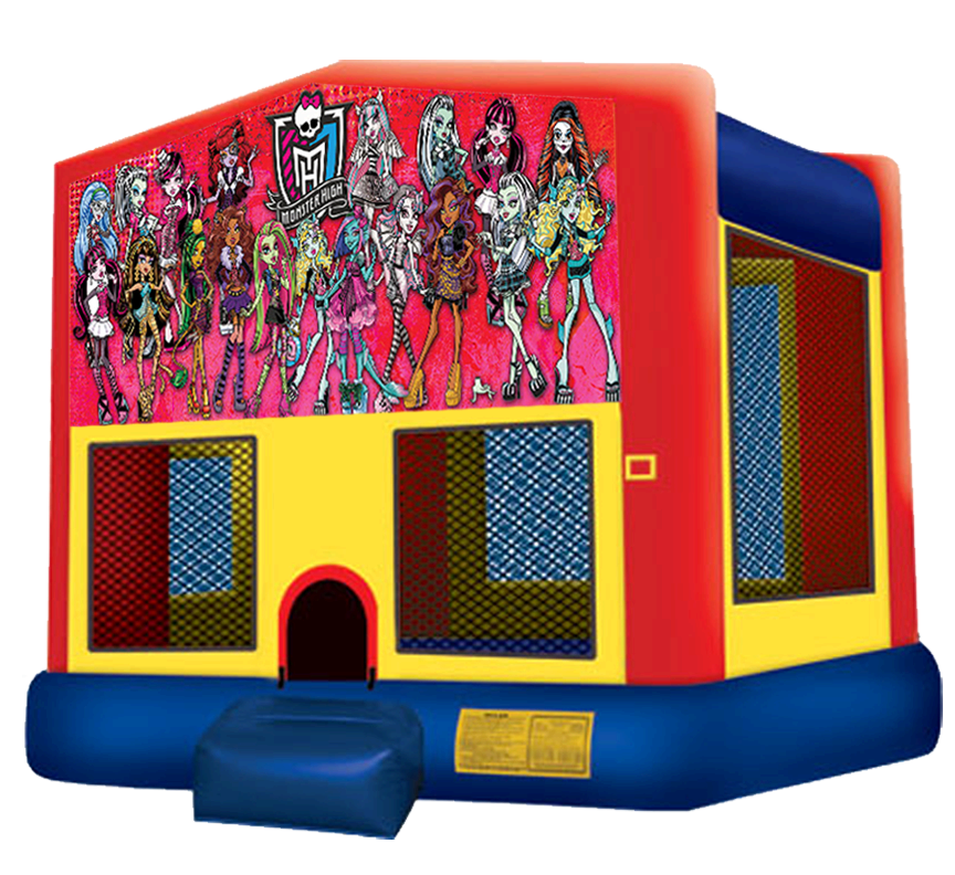 Monster High Bounce House Rentals in Austin Texas from Austin Bounce House Rentals