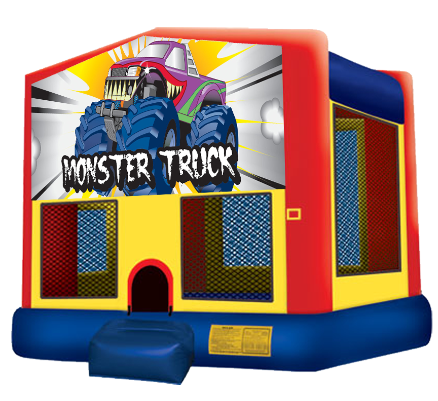 Monster Truck bounce house rental in Austin Texas by Austin Bounce House Rentals
