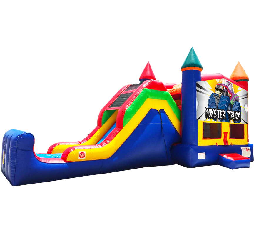 Monster Truck Super Combo rentals in Austin Texas from Austin Bounce House Rentals