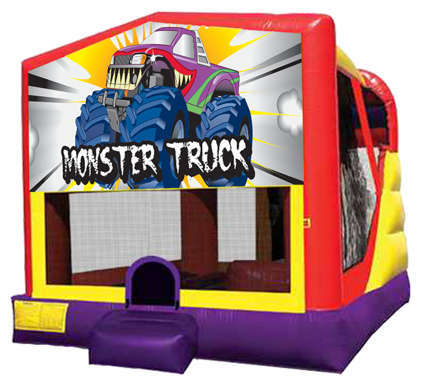 Monster Truck 4-in-1 Combo rentals in Austin Texas by Austin Bounce House Rentals