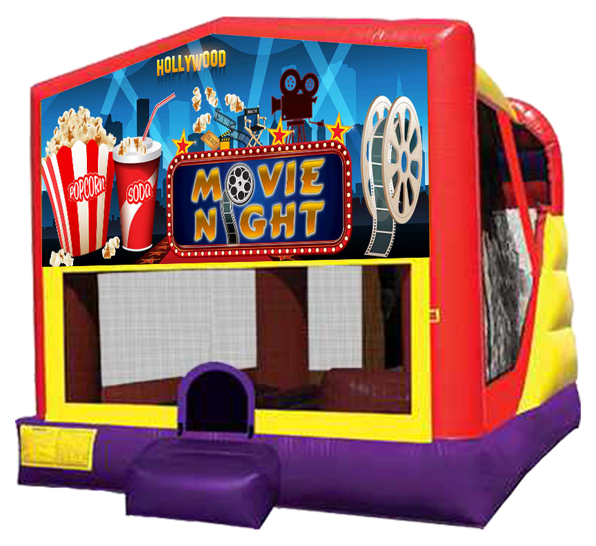 Movie Night Extra Large Bounce Slide Combo - Austin Bounce House Rentals