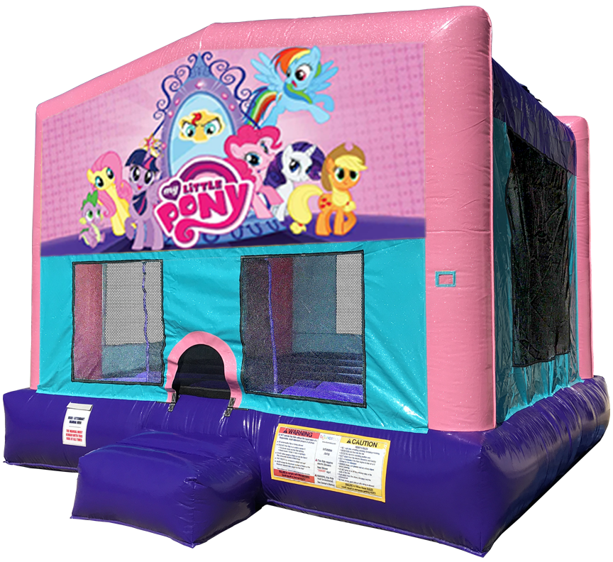 My Little Pony Sparkly Pink Bounce House Rentals in Austin Texas from Austin Bounce House Rentals