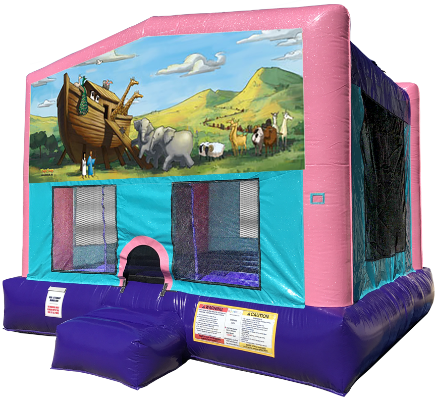 Noah's Ark Sparkly Pink Bounce House Rentals in Austin Texas from Austin Bounce House Rentals