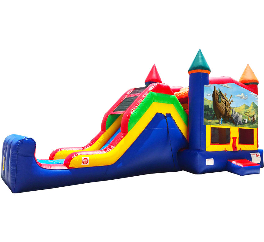 Noah's Ark Super Combo 5-in-1 Rentals in Austin Texas from Austin Bounce House Rentals
