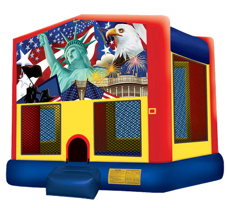 Patriotic Bounce House Rentals in Austin Texas from Austin Bounce House Rentals