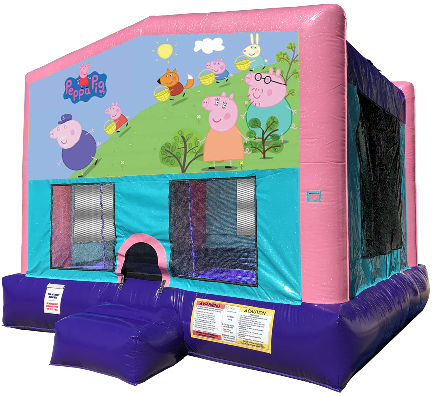 Peppa Pig Sparkly PInk Bounce House Rentals in Austin Texas from Austin Bounce House Rentals