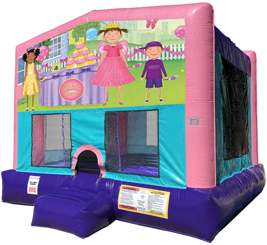 Pinkalicous Sparkly Pink Bounce House rentals in Austin Texas from Austin Bounce House Rentals