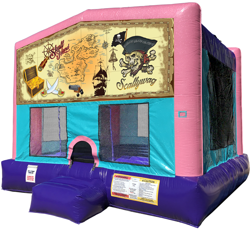 Pirate Sparkly Pink Bounce House Rentals in Austin Texas from Austin Bounce House Rentals