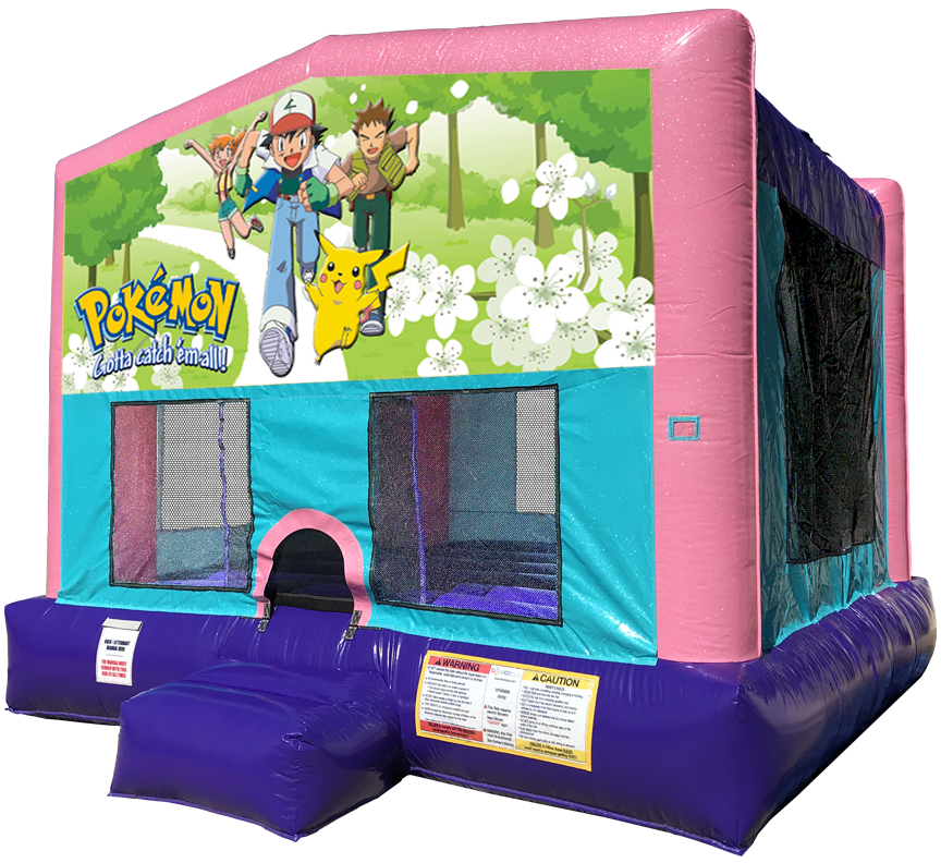 Pokemon Sparkly Pink Bounce House Rentals in Austin Texas from Austin Bounce House Rentals