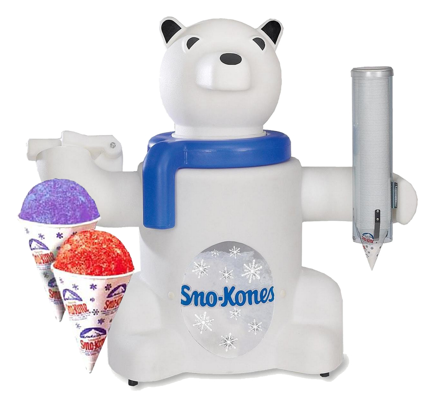 Polar Pete Sno-Cone Maker rental from Austin Bounce House Rentals in Austin Texas