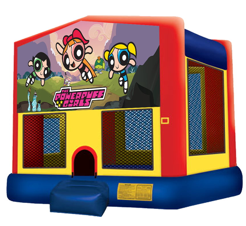 Pow R Puff Girls Bounce House rentals in Austin Texas from Austin Bounce House Rentals