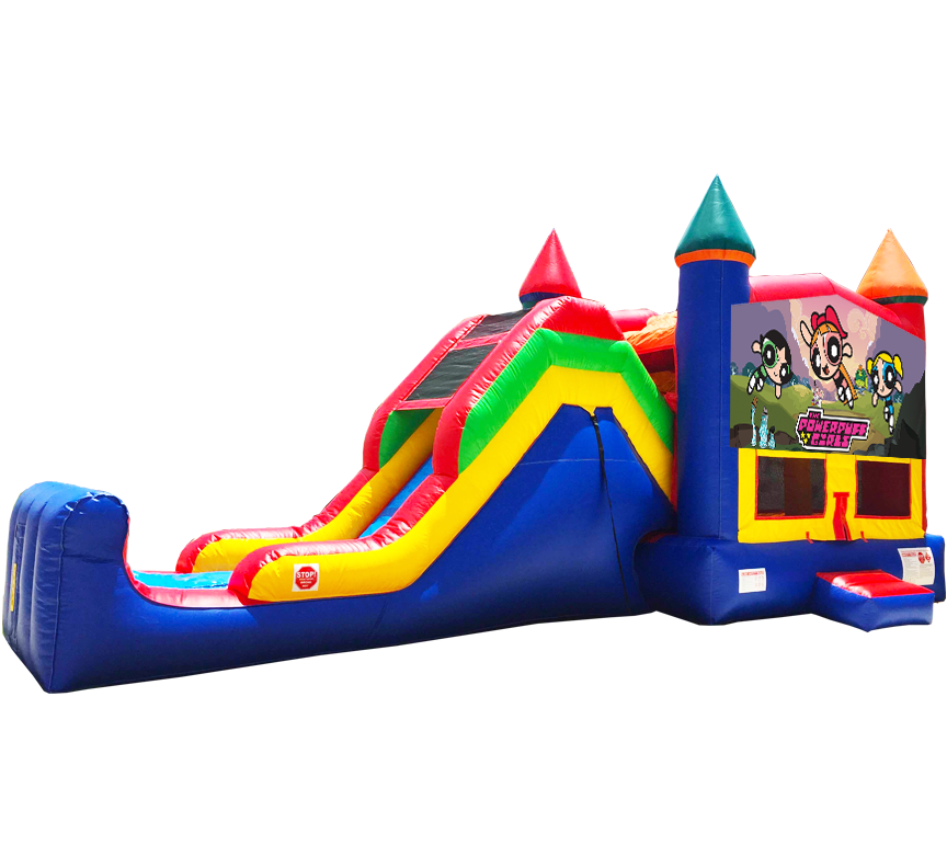 Pow R Puff Girls Super Combo 5-in-1 in Austin Texas from Austin Bounce House Rentals