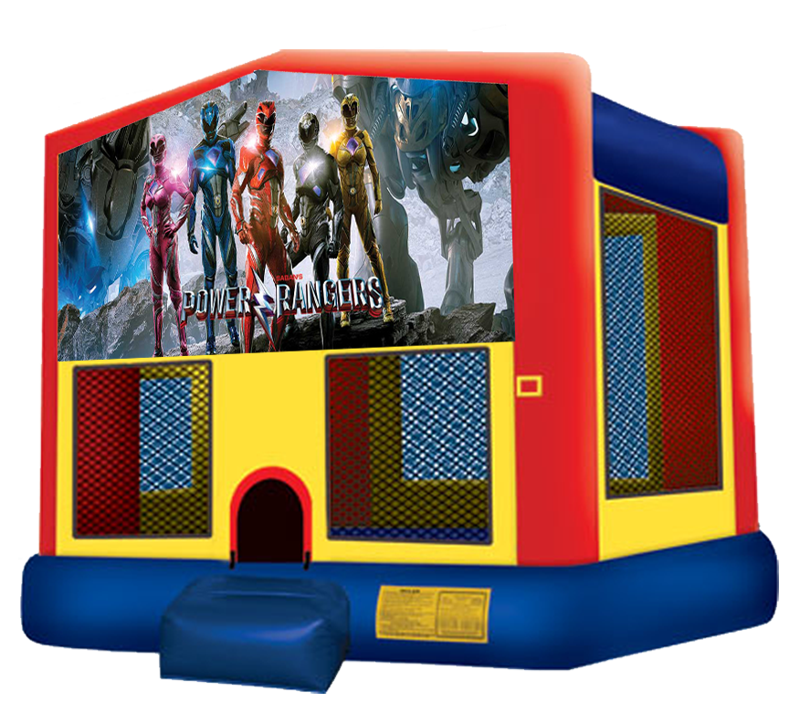 Power Rangers Bounce House for rent in Austin Texas