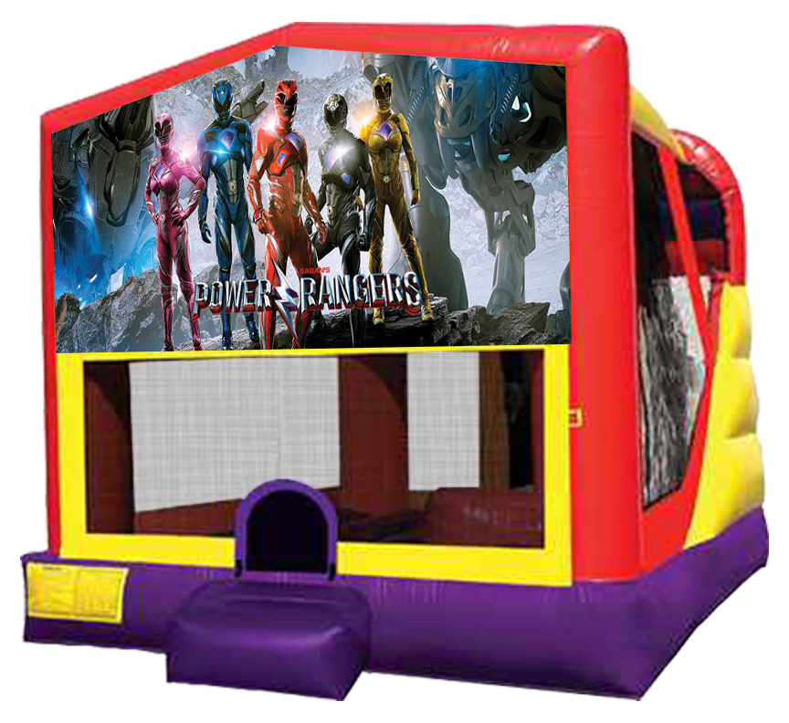Power Rangers 4-in-1 Combo featuring bouncer, slide, climber and basketball hoop in Austin Texas