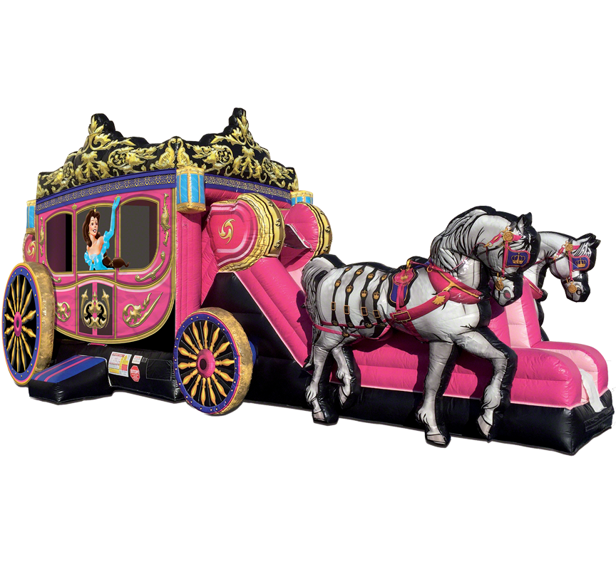 Princess Carriage Fairytale Combo rental in Austin TX from Austin Bounce House Rentals