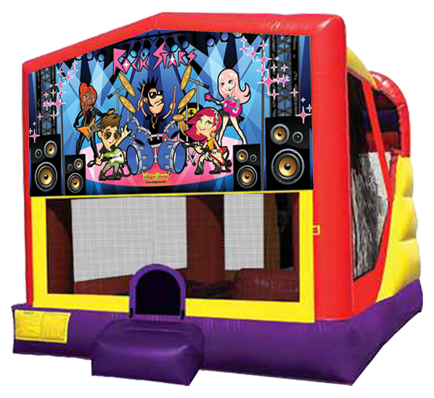 Rock Star Bounce-Slide Combo Rental in Austin Texas from Austin Bounce House Rentals