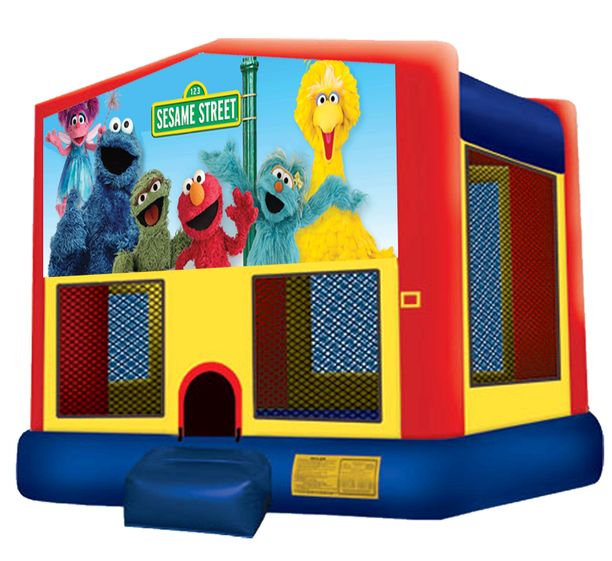 Sesame Street Bounce House Rentals in Austin Texas from Austin Bounce House Rentals