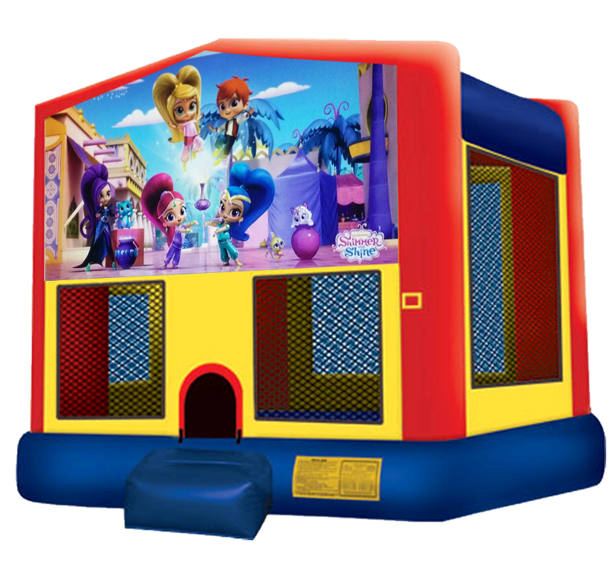 Shimmer and Shine Bounce House Rentals in Austin Texas from Austin Bounce House Rentals