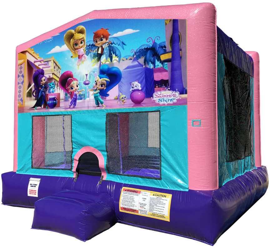 Shimmer and Shine Sparkly PInk Bounce House Rentals in Austin Texas from Austin Bounce House Rentals