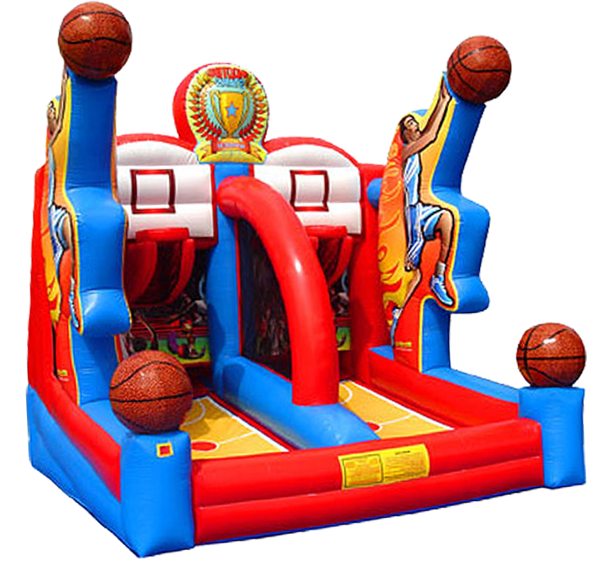 Shooting Stars Basketball 1-on-1 carnival game party rental in Austin Texas from Austin Bounce House Rentals