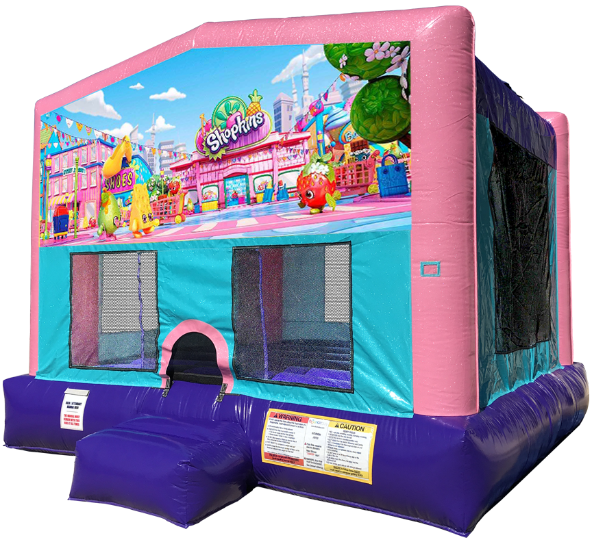 Shopkins Sparkly Pink Bounce House Rentals in Austin Texas from Austin Bounce House Rentals