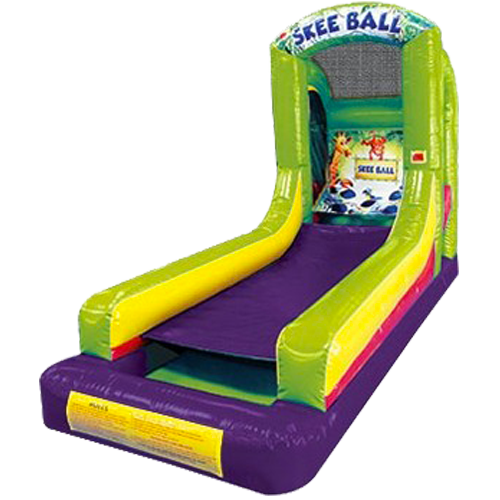 Inflatable Skee-Ball rental for parties in Austin Texas from Austin Bounce House Rentals