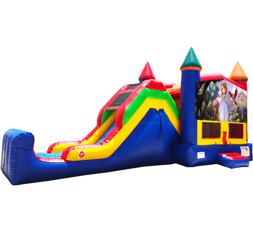 Sofia the First Super Combo 5-in-1 Inflatable Bouncer - Austin Bounce House Rentals