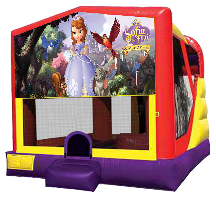Sofia the First Extra Large Combo - Austin Bounce House Rentals