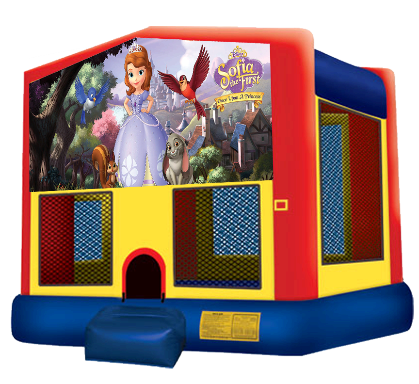 Sofia the First Bouncer - Austin Bounce House Rentals