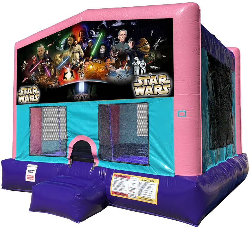 Star Wars Sparkly Pink Bounce House Rentals in Austin Texas from Austin Bounce House Rentals