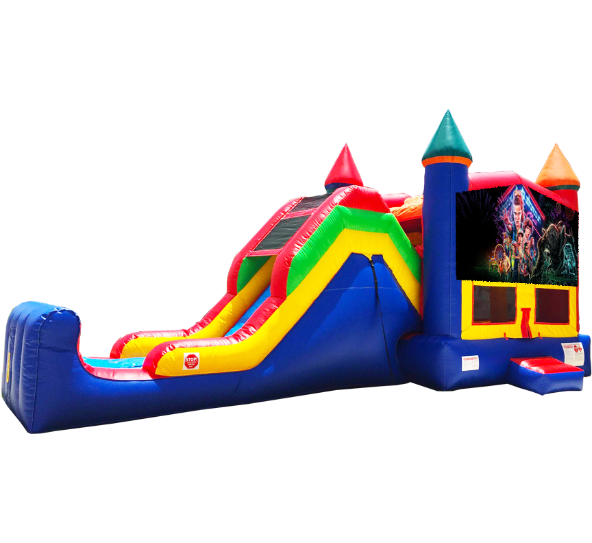 Stranger Things Super Combo 5-in-1 Rentals in Austin Texas from Austin Bounce House Rentals