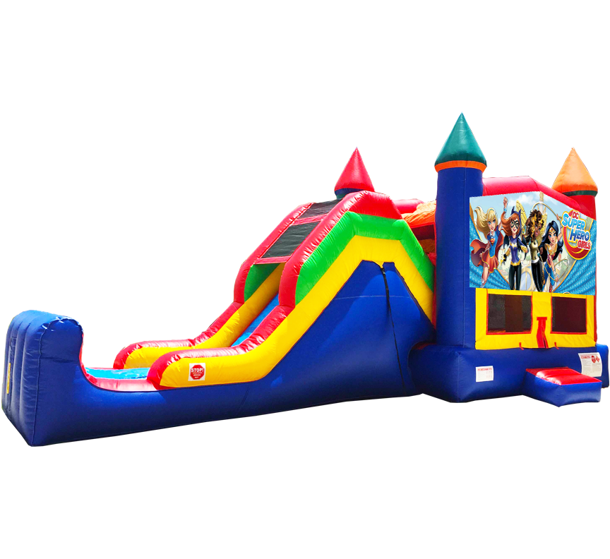 Super Hero Girls Super Combo 5-in-1 in Austin Texas from Austin Bounce House Rentals