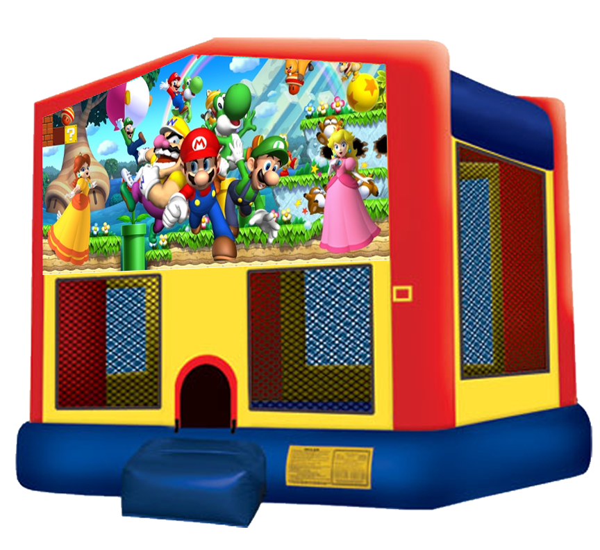 Super Mario Bounce House Rentals in Austin Texas from Austin Bounce House Rentals 512-765-6071
