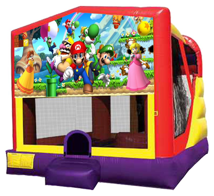 Super Mario 4-in-1 Combo Bouncer Rentals in Austin Texas from Austin Bounce House Rentals 512-765-6071