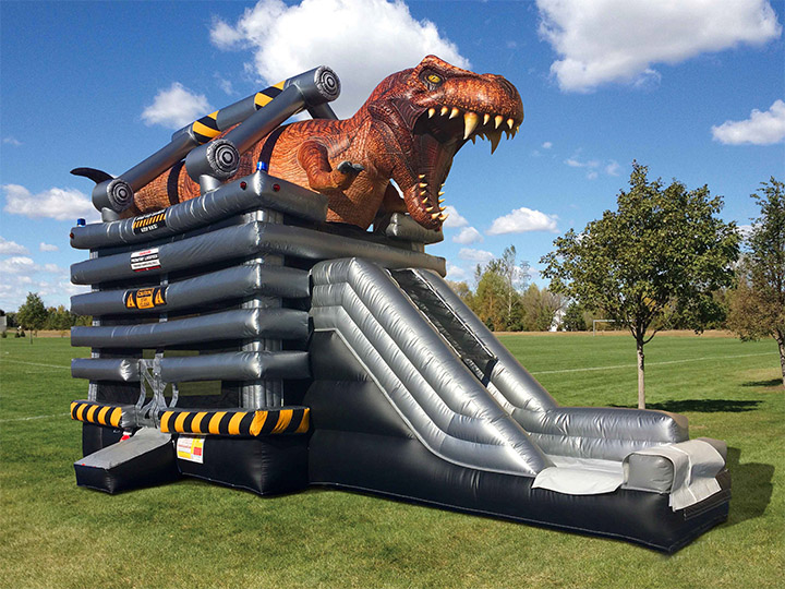 T-Rex 4-in-1 Combo Rentals in Austin Texas from Austin Bounce House Rentals