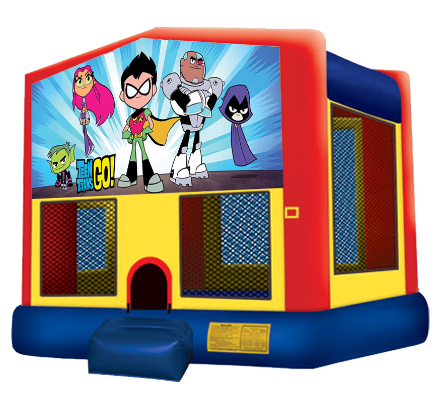 Teen Titans Go Bounce House rentals in Austin Texas from Austin Bounce House Rentals