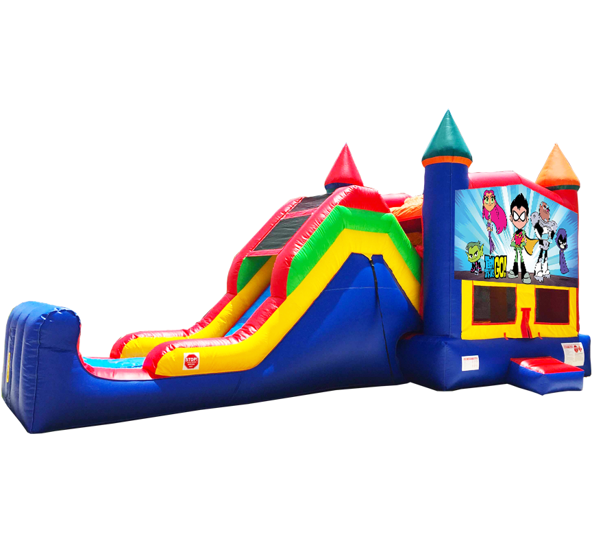 Teen Titans Go Super Combo 5-in-1 in Austin Texas from Austin Bounce House Rentals