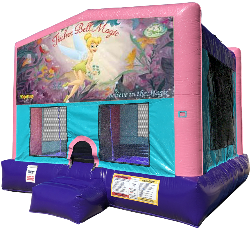 Tinkerbell Sparkly Pink Bounce House Rentals in Austin Texas from Austin Bounce House Rentals