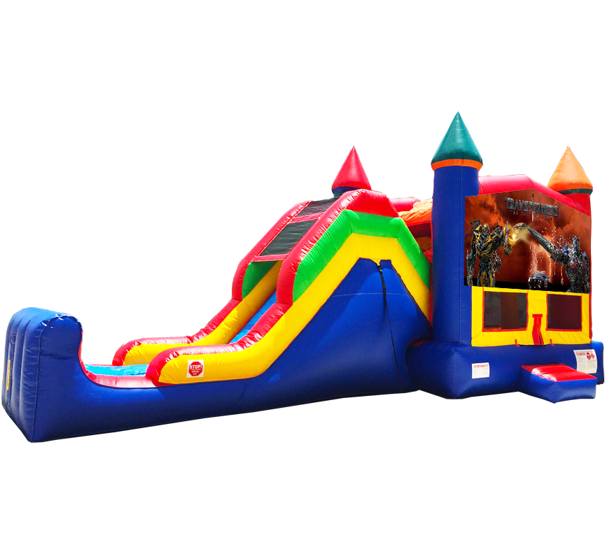 Transformers Super Combo 5-in-1 available for party rentals in Austin Texas from Austin Bounce House Rentals