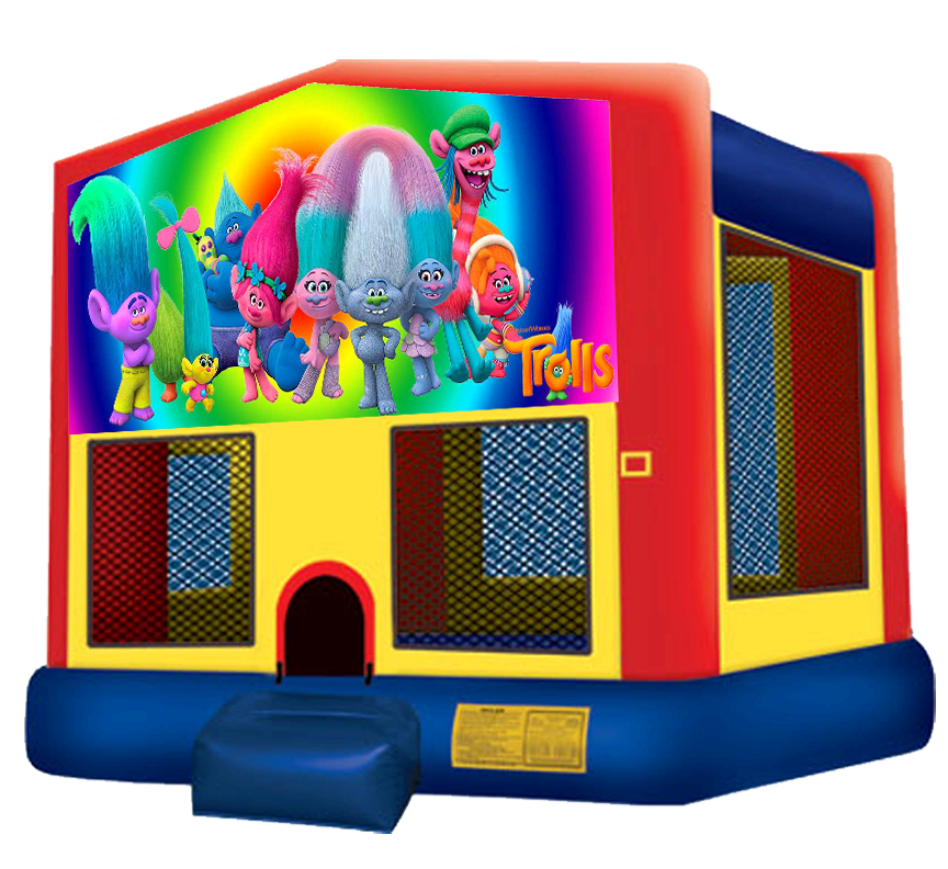 Trolls Bounce House Rentals in Austin Texas from Austin Bounce House Rentals