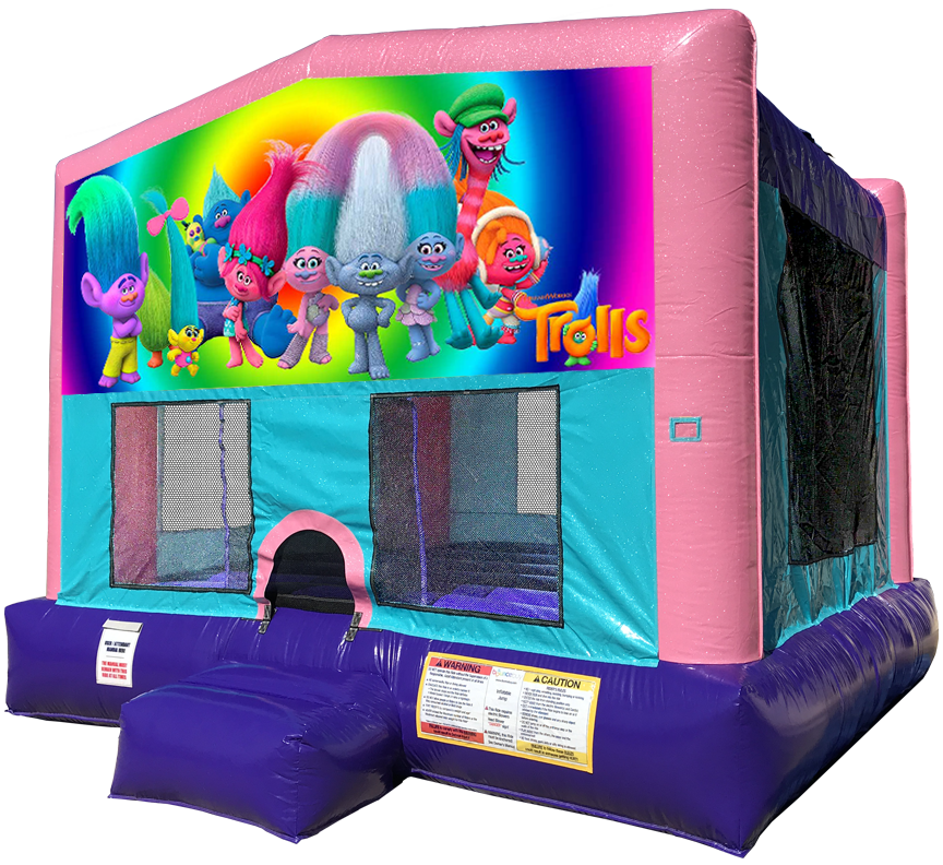 Trolls Sparkly Pink Bounce House Rentals in Austin Texas from Austin Bounce House Rentals