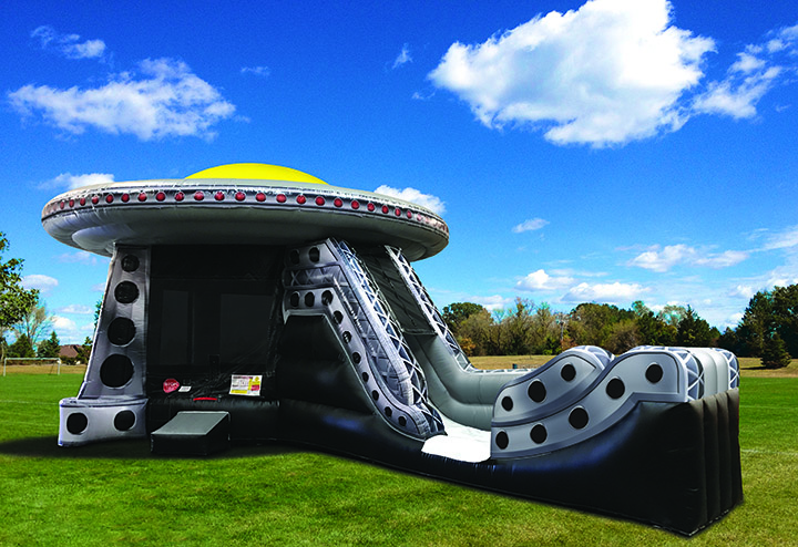 UFO Alien Invasion Inflatable Rentals from Austin Bounce House Rentals in Austin TX