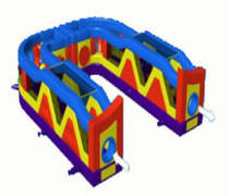 Ultimate There'n Back Obstacle Course rental in Austin Texas from Austin Bounce House Rentals
