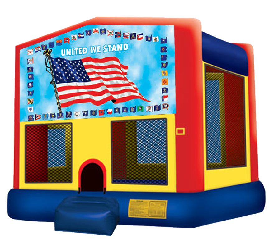 United We Stand Bounce House Rentals in Austin Texas from Austin Bounce House Rentals