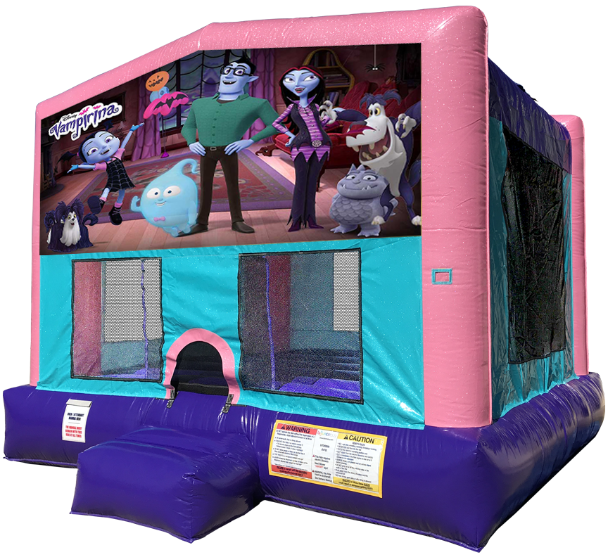Vampirina Bounce House Pink Edition Rentals in Austin Texas from Austin Bounce House Rentals